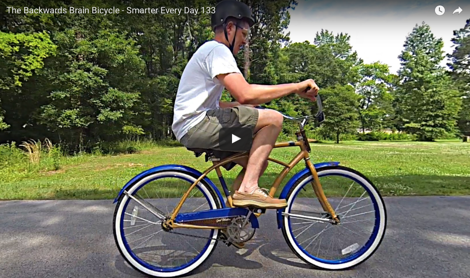 [VIDEO] 'The Backwards Brain Bicycle' Will Fry Your Mind But Also Make You Smarter