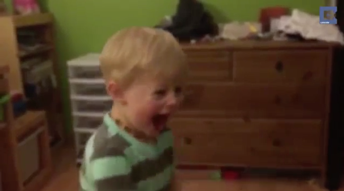 [VIDEO] Deaf Toddler Cannot Control His Excitement When He Hears For The First Time
