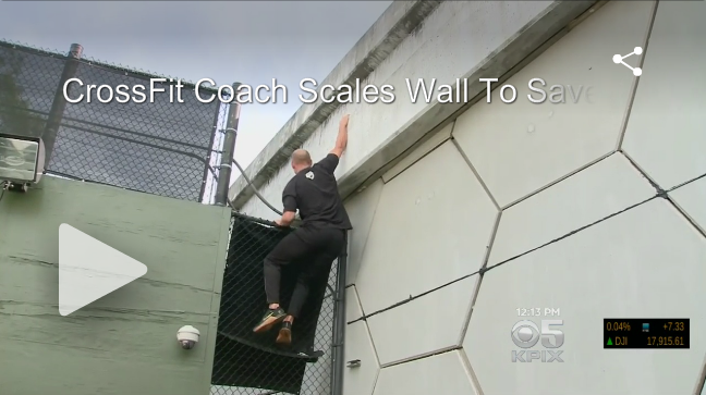 [WATCH] CrossFit Coach Scales 25-Foot Wall to Get on Freeway and Save Family's Life After Car Crash