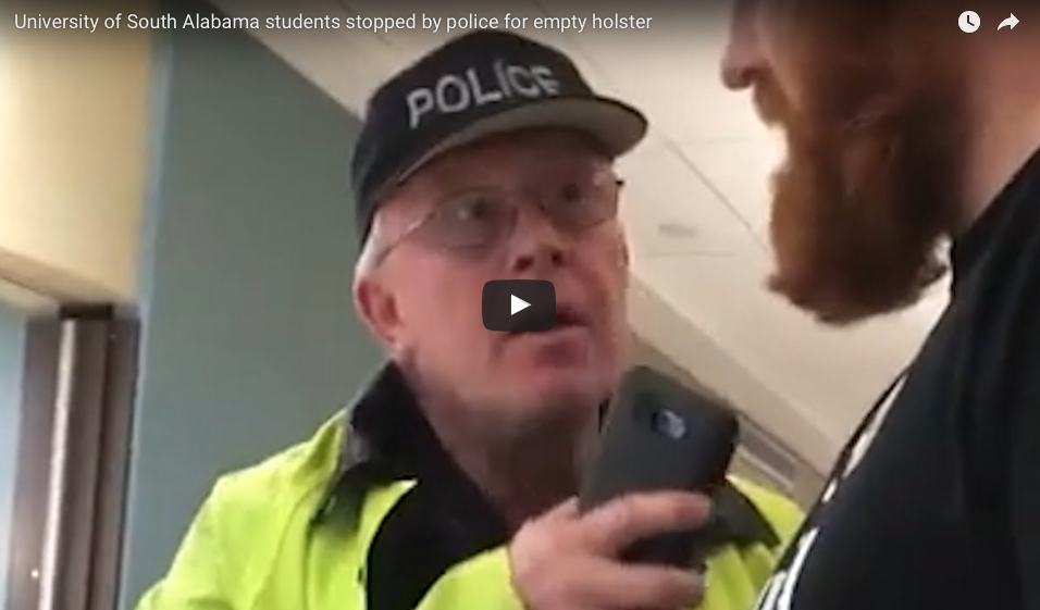 [WATCH] College Student Wears Empty Holster On Campus, Then 'Barney Fife' Shows Up
