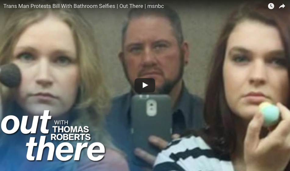 [WATCH] Trans Man Protests Bill With Bathroom Selfies