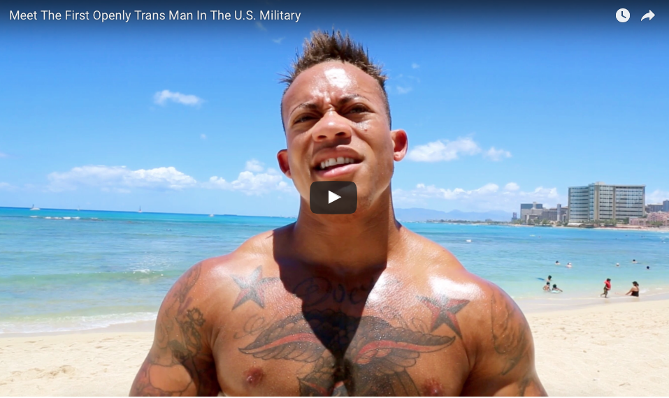 [VIDEO] Meet The First Openly Trans Man In The U.S. Military