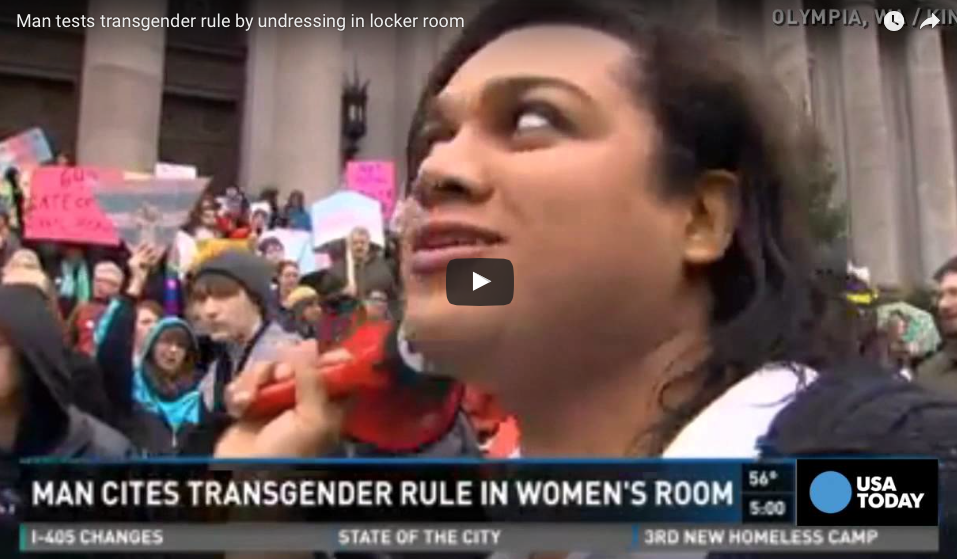 [VIDEO] Man Says That Transgender Law Allows Him To Reveal His 'True Self' In Girl's Locker Room