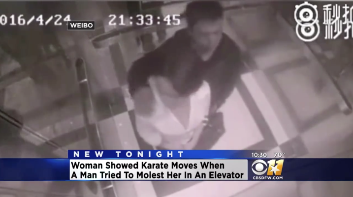 [WATCH] Man Tries To Molest Smaller Woman In Elevator So She Unleashes Her 'Skills'