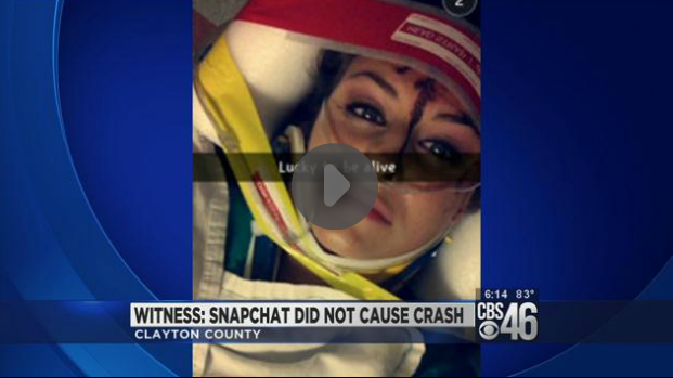 Did Snapchat Cause This Woman To Crash Her Car Or Is She Passing The Blame?