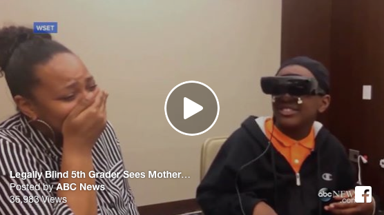 [WATCH] Legally Blind 5th Grader Sees Mother For 1st Time Through Electronic Glasses