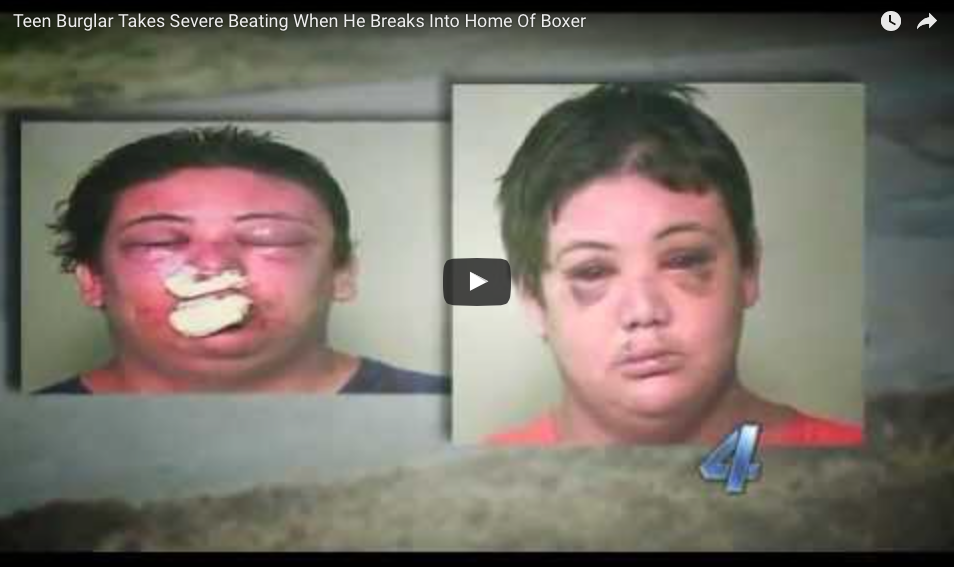 WATCH What Happens When A 220LB Burglar Breaks Into A Boxer's Home