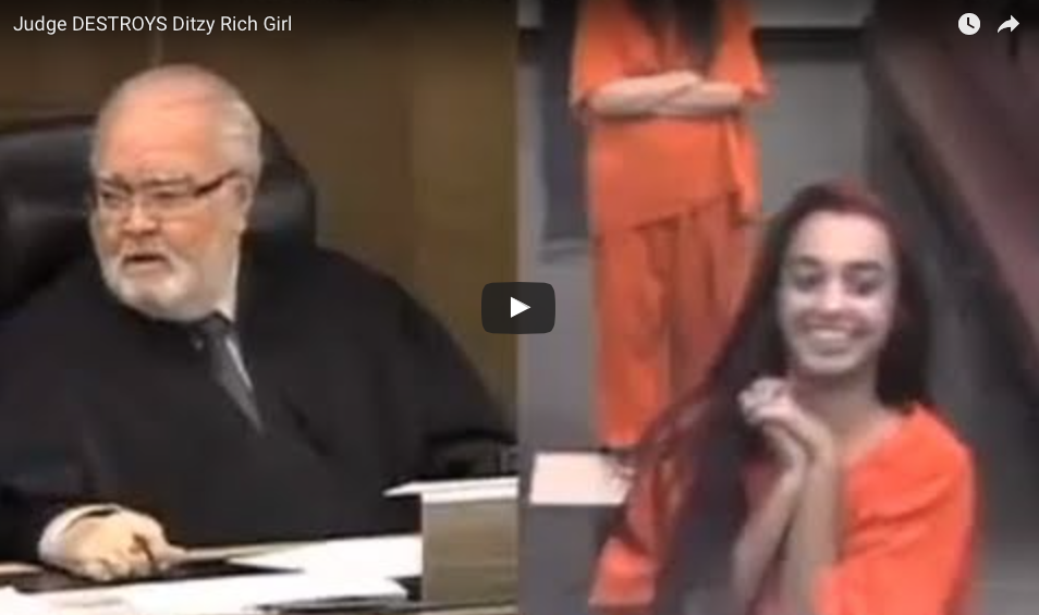 WATCH This Judge DESTROY A Ditzy Rich Girl