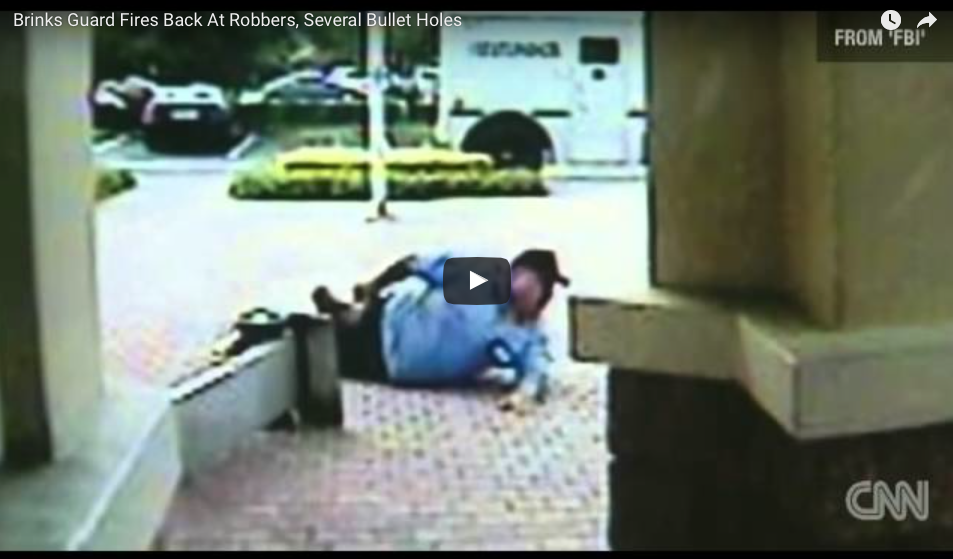 [WATCH] Ambushed Security Guard Fires Back With Superhuman Accuracy