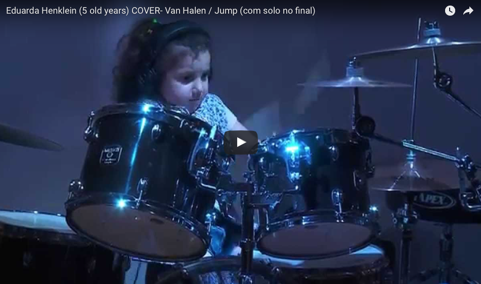 She's Only 5-Years-Old But How She CRUSHES This Van Halen Song On Her Drums Blew Me Away!