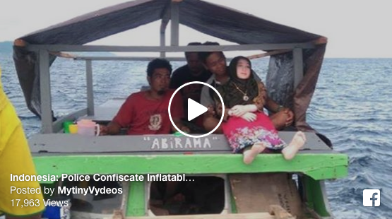 [VIDEO] Indonesia: Police Confiscate Inflatable Sex Doll That Villagers Treated As Fallen Angel