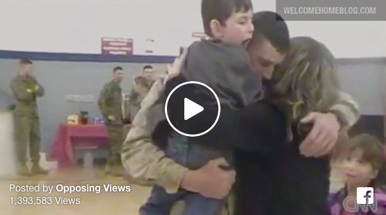 [WATCH] Marine Father Greeted With Miraculous Gift From Son With Cerebral Palsy