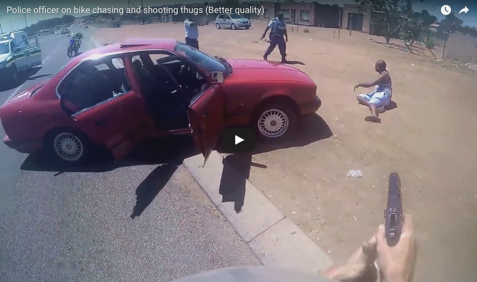 WATCH This Super Hero Police Officer On Bike, Chasing And Shooting With A Purpose