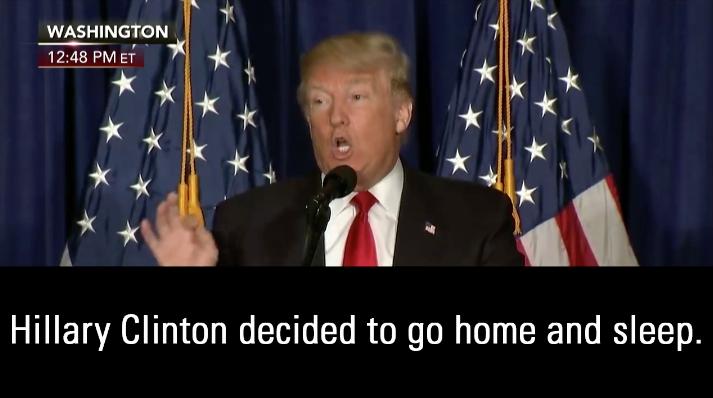 Donald Trump On Benghazi: 'Hillary Clinton Decided To Go Home And Sleep'