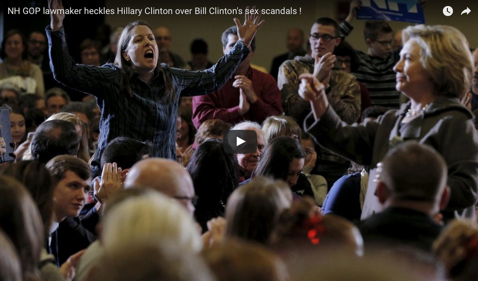 [WATCH] Woman Confronts Hillary Clinton About Bill: 'It's About Rape, Not Infidelity, Stupid'