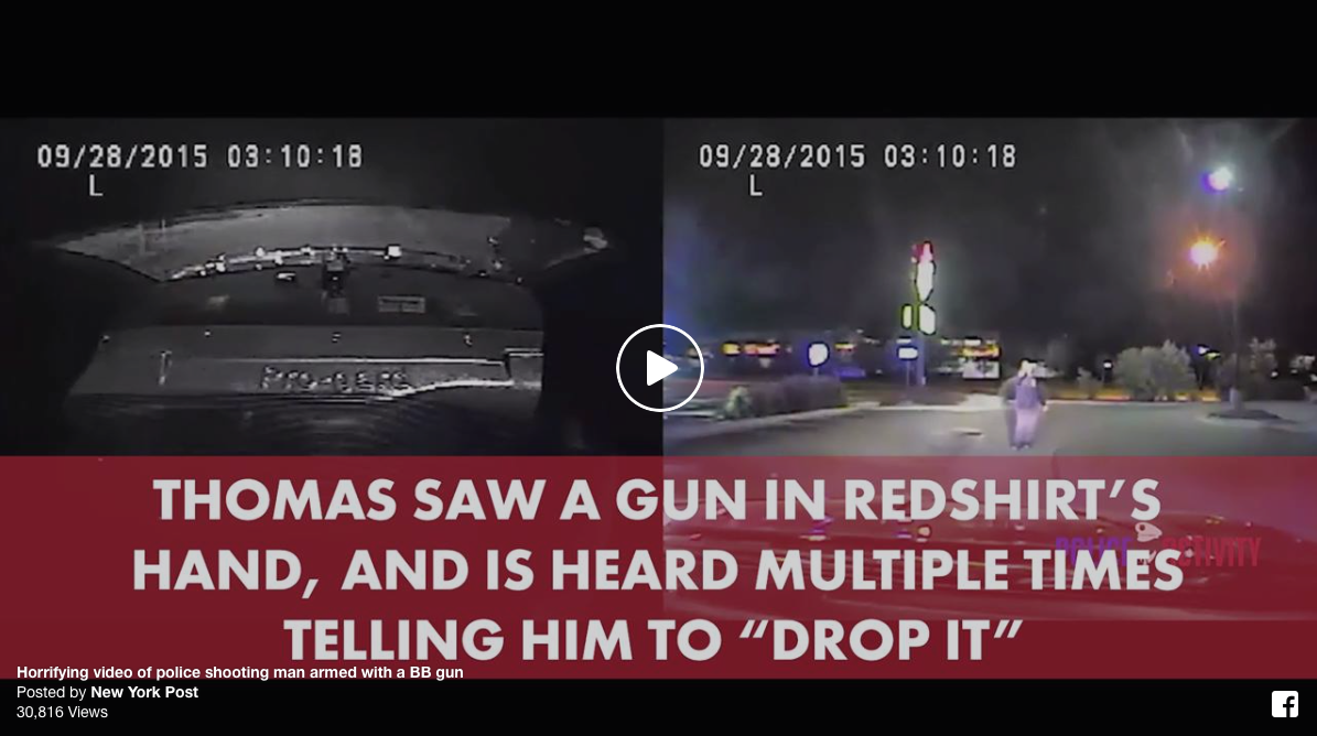 Horrifying VIDEO Of Police Shooting Man Armed With A Toy
