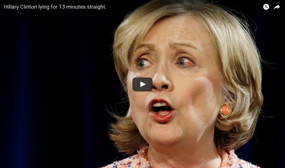Thirteen-minute VIDEO Of Hillary Clinton Mouthing 'Falsehoods' Throughout Her Career Goes Viral