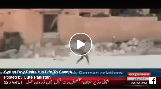 [WATCH] Syrian Boy Risks His Life To Save A Little Girl From Sniper
