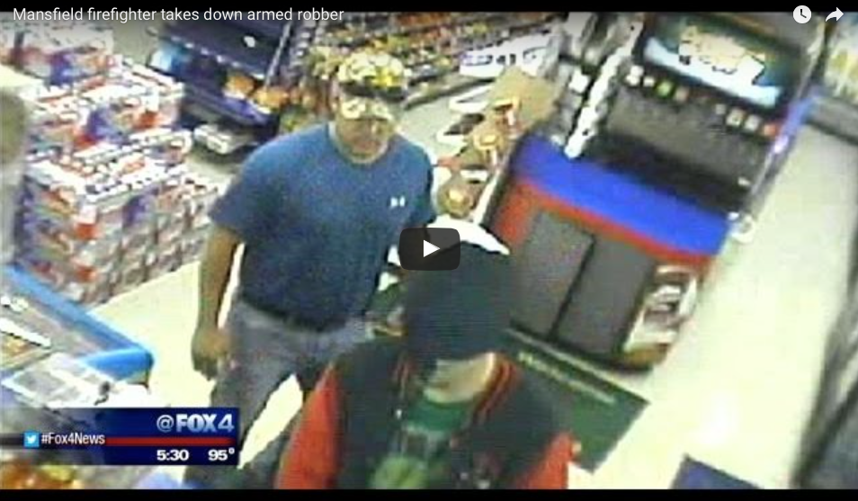 WATCH This Armed Robber Make His Move Without Knowing A MARINE Is Behind Him