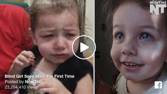 [WATCH] Two-Year-Old Blind Girl Sees Mom For First Time