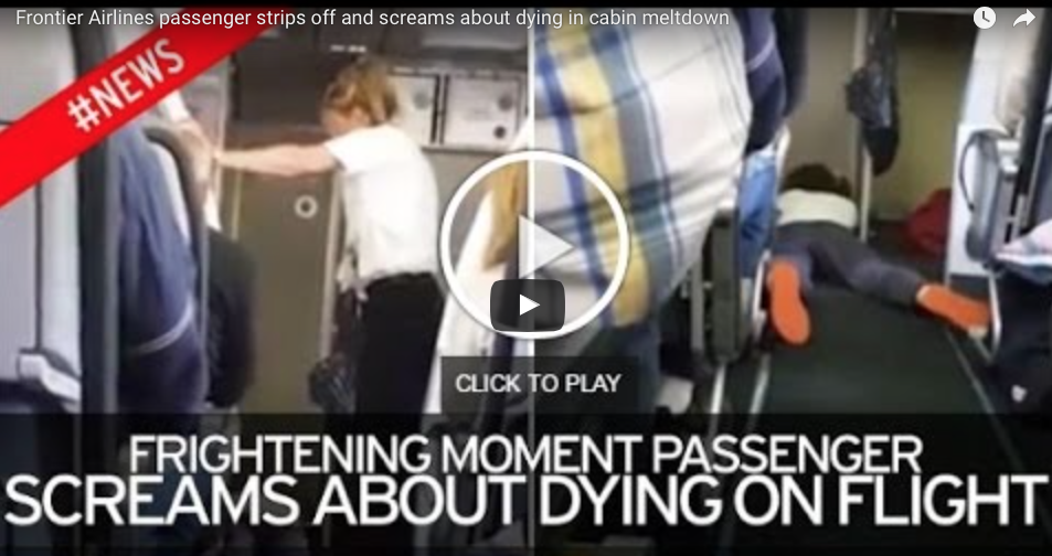 [VIDEO] Woman Flips Out On Flight, Strips Naked