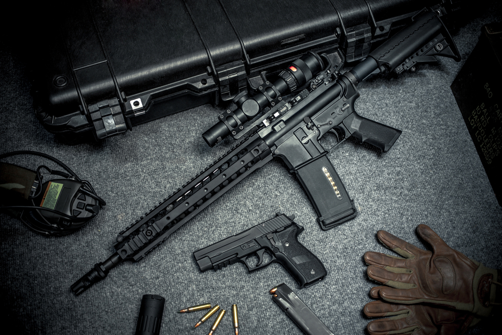 AR Gloves and Pistol
