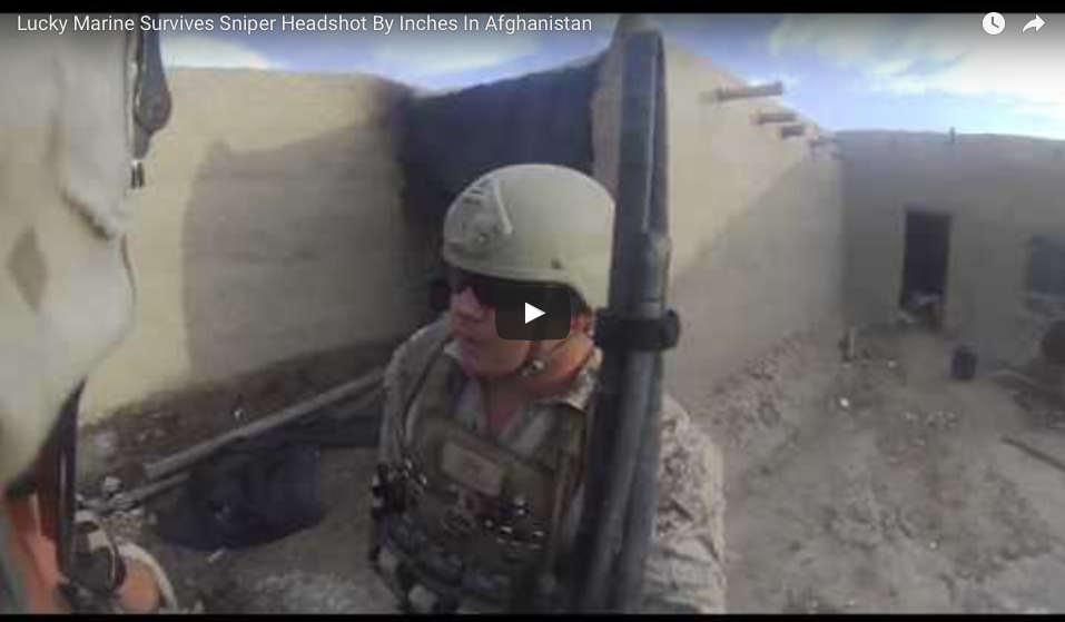 [WATCH] Lucky Marine Survives Sniper Headshot By Inches In Afghanistan