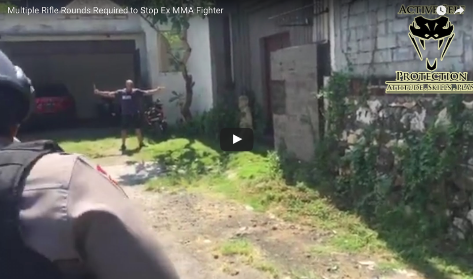 VIDEO Shows That Police Need Multiple Rifle Rounds To Stop MMA Fighter