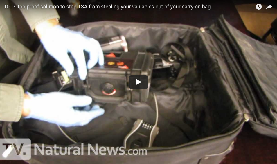 100% Foolproof Solution To Stop TSA From Stealing Your Valuables Out Of Your Carry-on Bag