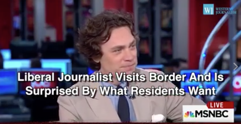 [WATCH] Liberal Journalist Visits The Border, What He Sees Causes A Massive Change Of Heart