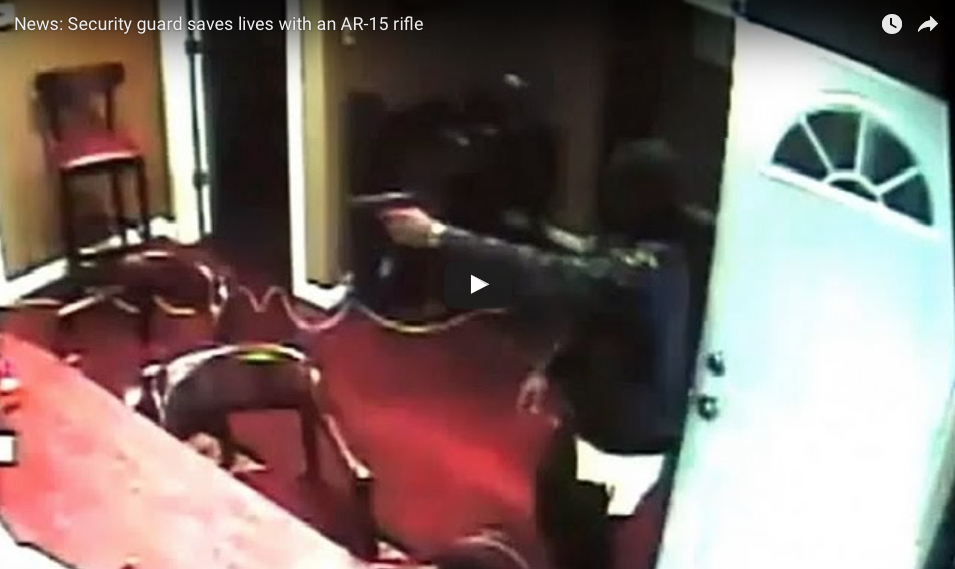 [WATCH] Security Guard Saves Lives With An AR-15 Rifle At Public Business