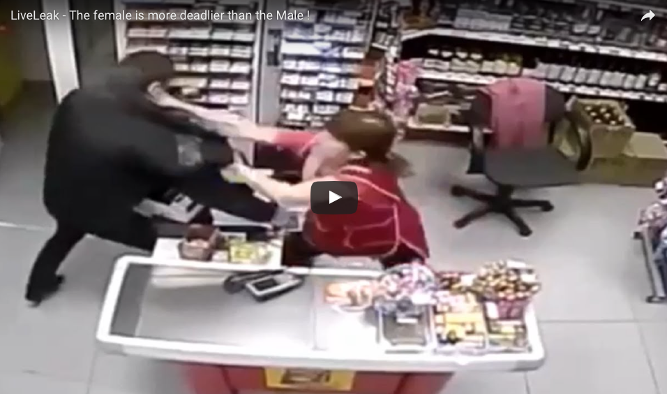 CCTV VIDEO Proves The Female Is Deadlier Than The Male