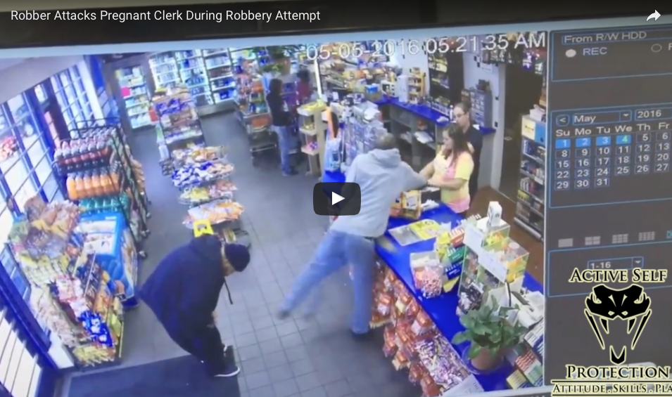 [WATCH] Robber Attacks Pregnant Store Clerk, Workers Come To Help, Things Get Completely Insane!