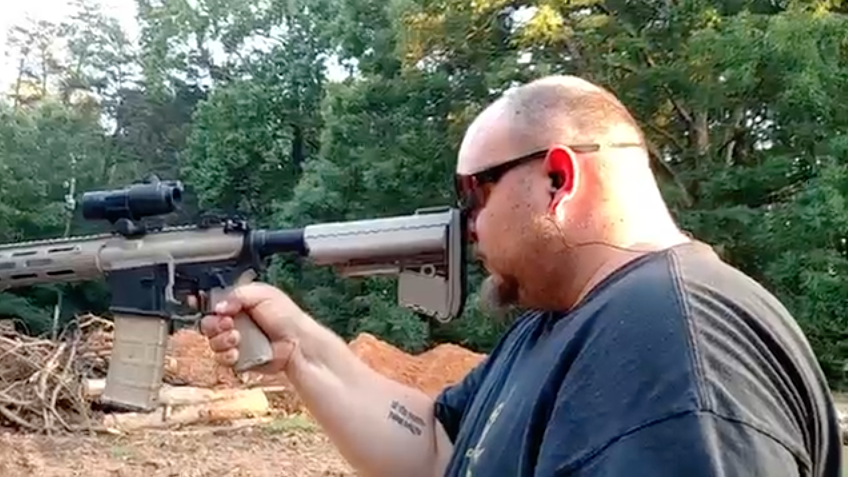 [WATCH] Man Fires AR-15 Off The Tip Of His Nose To Disprove Media Hype