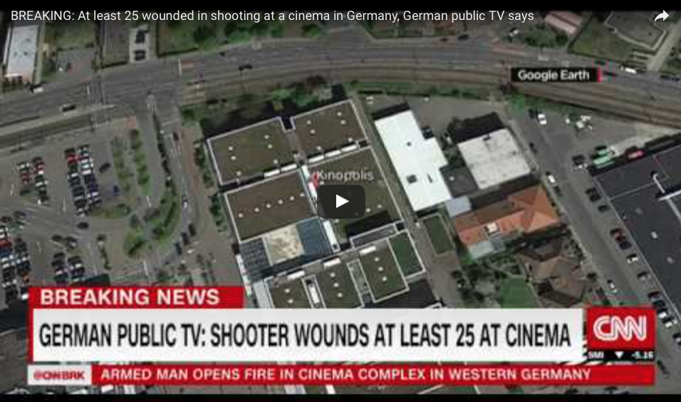 [VIDEO] At Least 50 Wounded In Shooting At A Cinema In Germany; Gunman Barricades Himself Inside