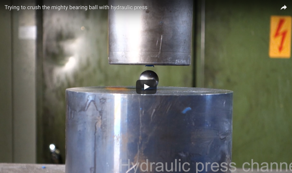 [WATCH] Trying To Crush The Mighty Bearing Ball With A Hydraulic Press