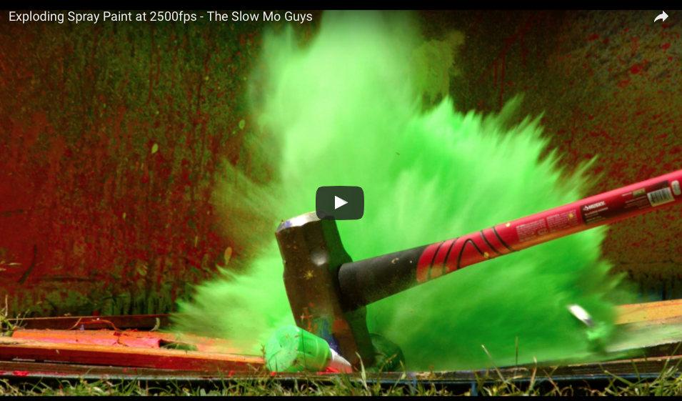 [WATCH] Exploding Spray Paint Cans In Slow-Motion Induces Surprising Satisfaction