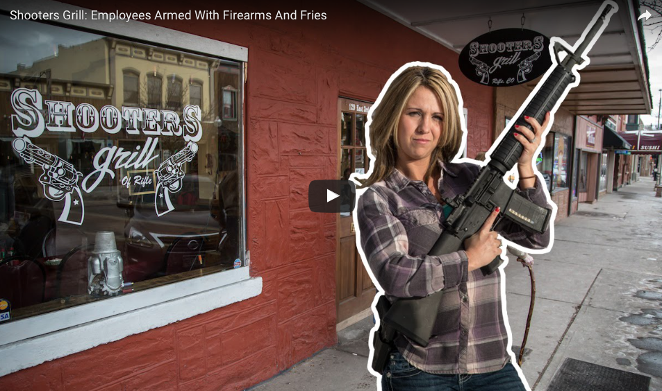 [WATCH] Armed Waitresses Carry Guns And Plates At Family Restaurant