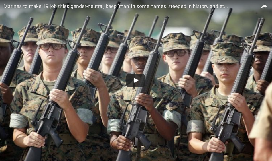 U.S. Marine Corps To Make 19 Job Titles Gender-Neutral: Are We Safer, Now?
