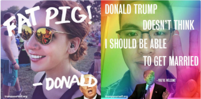You Won't Believe The #TrumpYourself Insults That Hillary's New Website Delivers