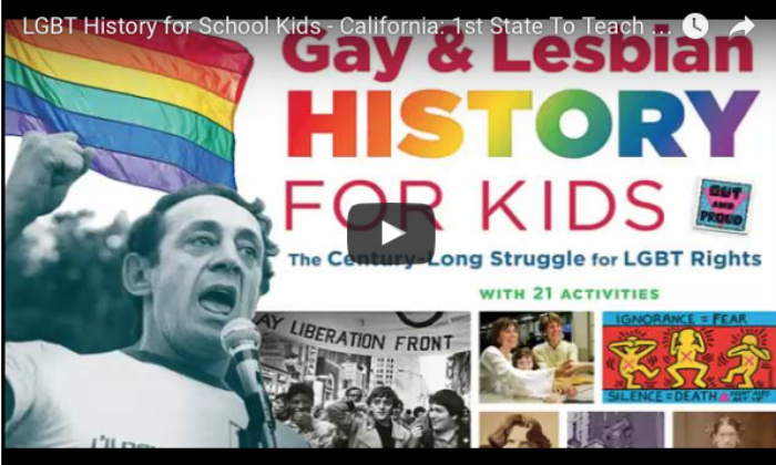 Second Graders In California Can Now 'BENEFIT' From Homo History Lessons In School