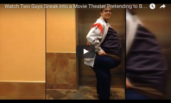 [WATCH] Sneaking A Friend Into The Cinema While Dressed As One Person