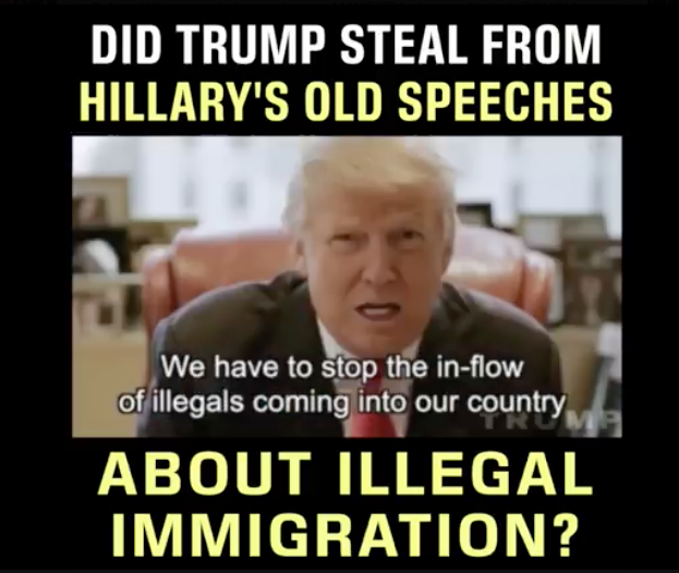 [VIDEO] Did Trump Steal Hillary's Old Speeches On Illegal immigration? You Need To Know!