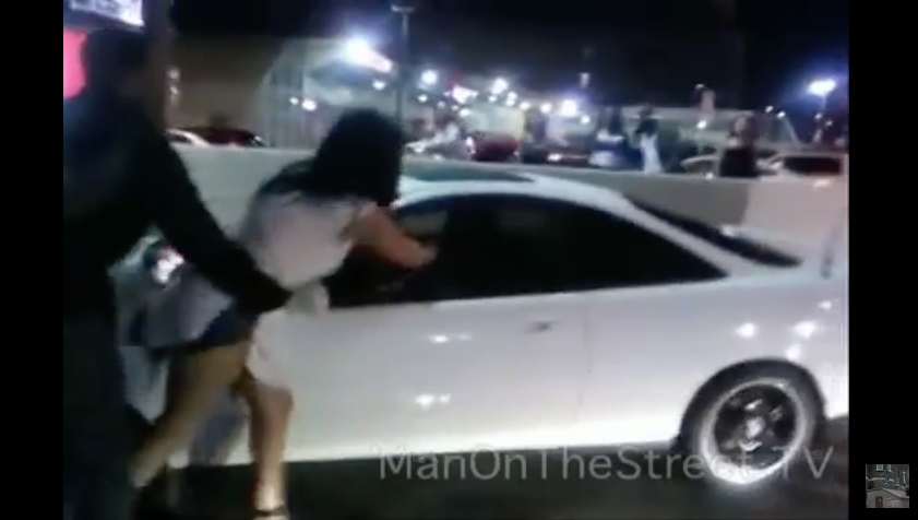 WATCH These Girls Fight, One Jumps In The Car To Plow The Other, Then The Smackdown Unfolds