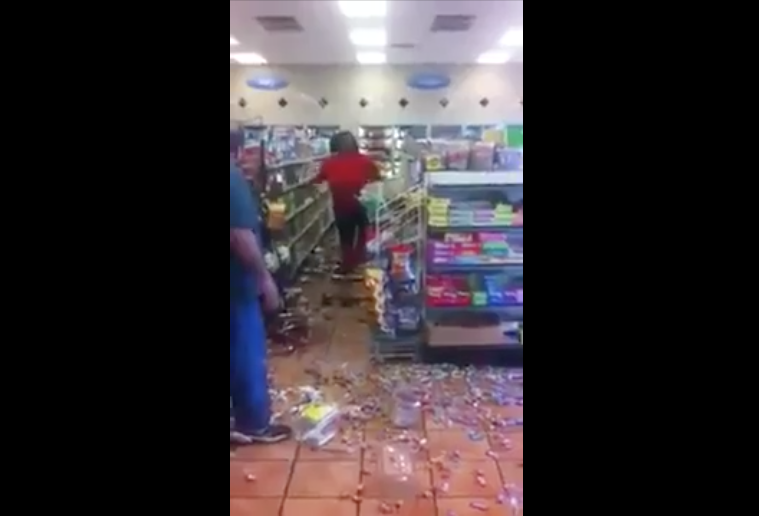 [WATCH] Black Woman Rampages A Store Because Owner Won't Let Her Buy Alcohol On EBT Card