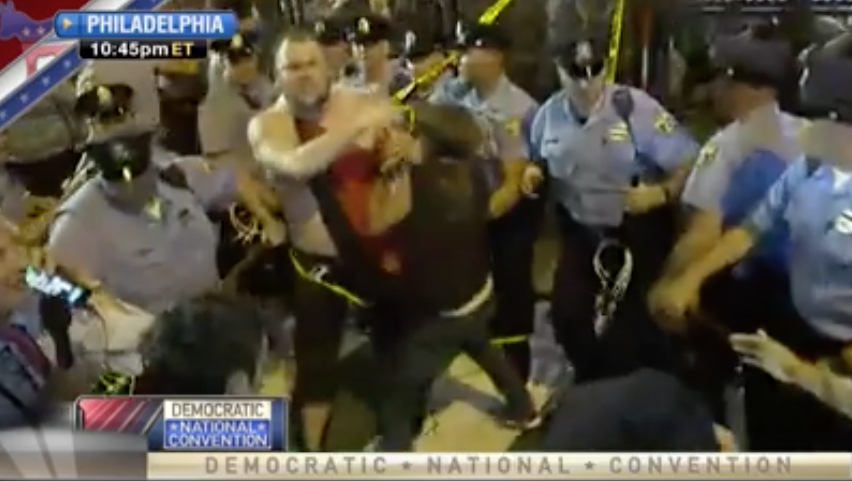 [VIDEO] This Is How Liberal Protesters Treat The Police... You Didn't See This At The RNC!