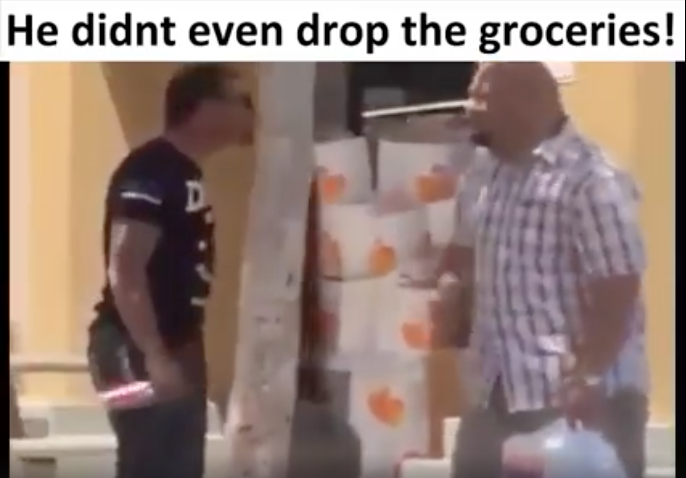 [WATCH] How To End A Fight Without Even Dropping The Groceries
