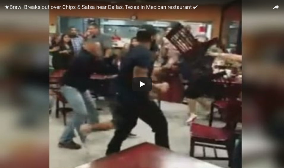 [WATCH] Argument Over Chips and Salsa Suddenly Turns Into Massive Brawl at Dallas Mexican Restaurant