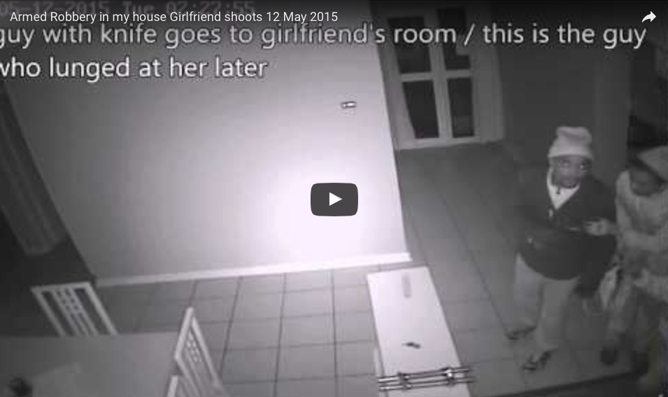 [WATCH] Armed Robbery In My House But My Girlfriend Shoots