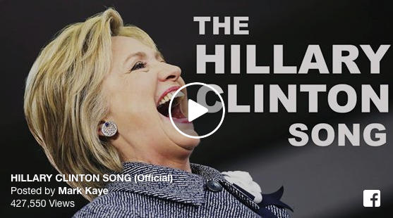 [VIDEO] 'The Hillary Clinton Song' Is Crushing The Internet - Viral Views And No Signs Of Stopping!